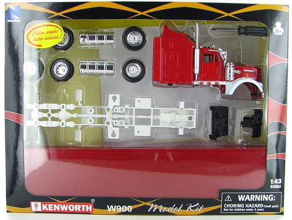 SS-15335D - New-ray Kenworth W900 Dry Van Model Kit