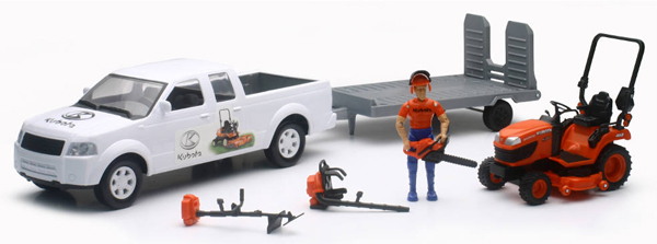 SS-33263A - New-Ray Toys Kubota Lawn Care Playset Playset