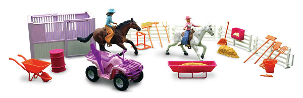 SS-37105B - New-ray Horse Riding Playset
