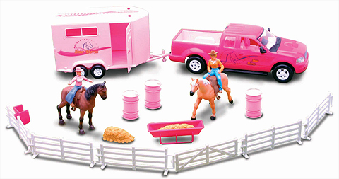 SS-37305A - New-ray Riding Academy Deluxe Playset Pink Set