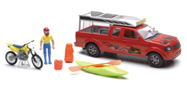 SS-37386-D - New-Ray Toys Xtreme Adventure Pickup Playset Playset