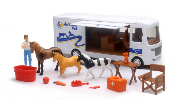 SS-37636 - New-ray Country Life Horse Vet Play Set