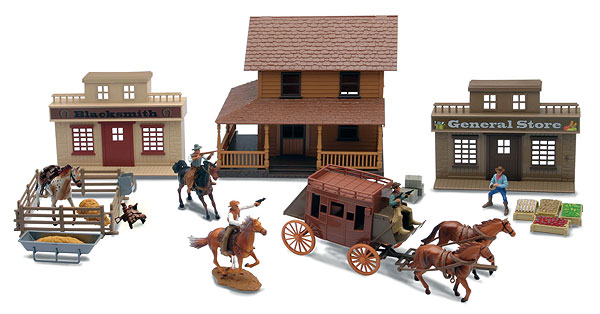 SS-38465A - New-Ray Toys Deluxe Big Western Town Playset Set