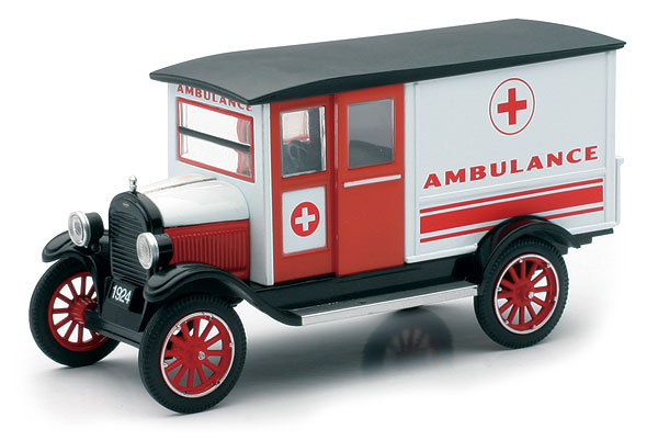 SS-55073A - New-ray Ambulance 1924 Chevy 1 Ton Series