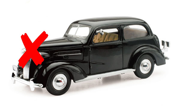 SS-55183-X1 - New-ray 1937 Chevrolet Master Deluxe Town Sedan