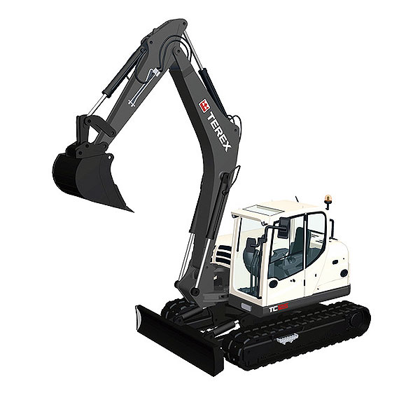 902 - NZG Model Terex TC125 Tracked Excavator