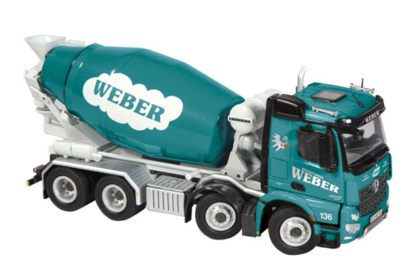 906-11 - NZG Model Weber Mercedes Benz Arocs 8x4 Concrete