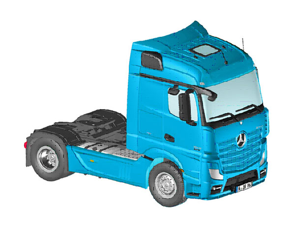 963-20 - NZG Model Mercedes Benz Actros 25 StreamSpace