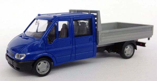 006555 - Rietze Ford Transit Crew Cab Flat Bed
