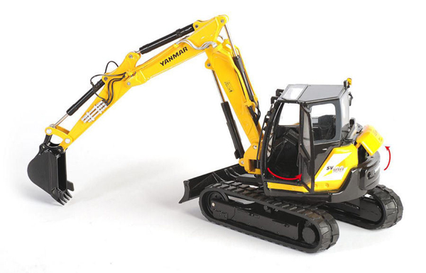 001503 - ROS Yanmar SV100 2PB Mini Excavator two