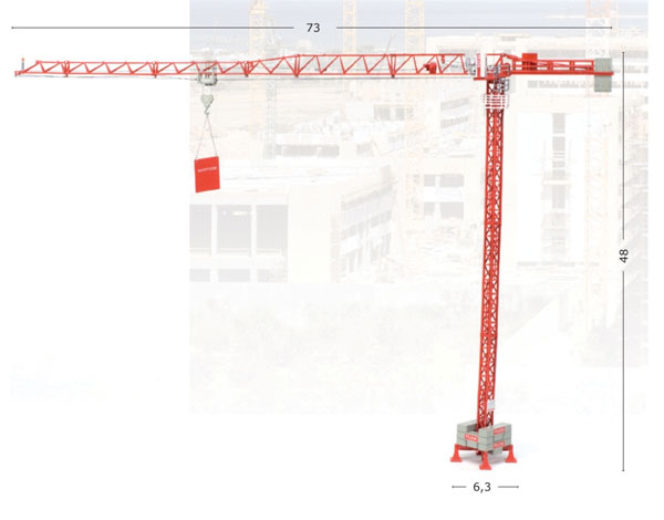 801080 - ROS WOLFF 4517 City Tower Crane High