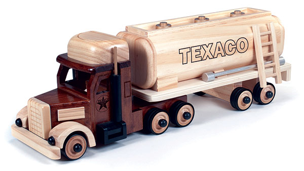 CP7044 - Round 2 Texaco Tractor Trailer Oil Tanker SOLID