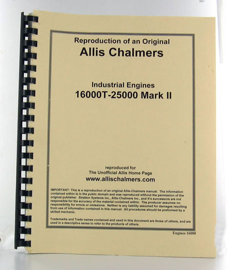 AC16000-S - Strattons Allis Chalmers Diesel Engine Service Manual