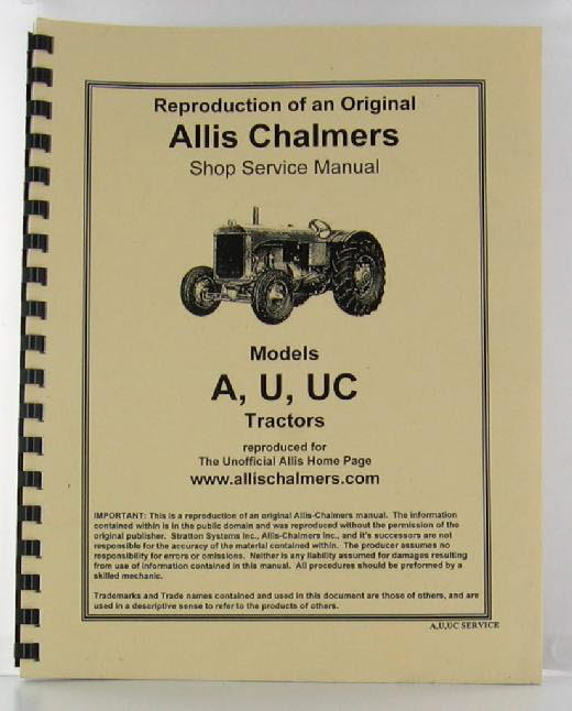 ACAUUC-S - Strattons Allis Chalmers Model A U and UC
