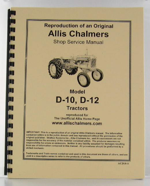 ACD10-S - Strattons Allis Chalmers Model