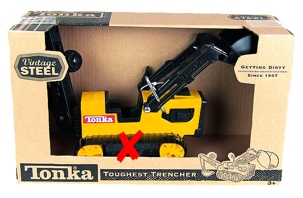 93503-X - Tonka Toughest Trencher Vintage Steel Series ONE