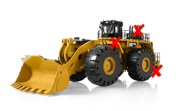 10008-X - Tonkin Replicas Caterpillar 994H Wheel Loader ONE FENDER