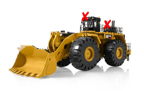 10008-X3 - Tonkin Replicas Caterpillar 994H Wheel Loader TWO SMOKESTACKS