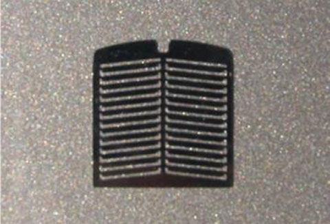 194 - Tractorfab Semi Truck Angled Louvered Grill Overlay