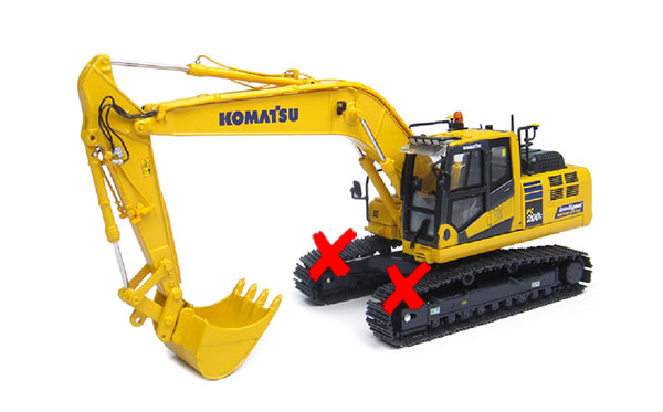 8107-X - Universal Hobbies Komatsu PC200i 10 Tracked Excavator TRACKS