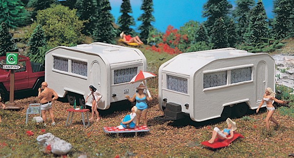 45147 - Vollmer Camping Trailers Set of 2 Figures