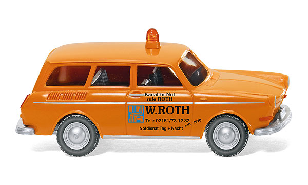 004201 - Wiking Model W Roth Volkswagen 1600 Variant Station Wagon