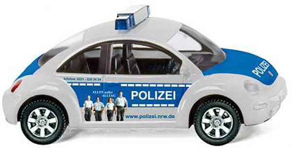 010444 - Wiking Polizei Volkswagen New Beetle Police Car