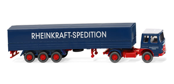051701 - Wiking Rheinkraft Spedition MAN Flatbed Tractor Trailer