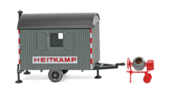 065606 - Wiking Model Heitkamp Job Site Trailer and Cement Mixer