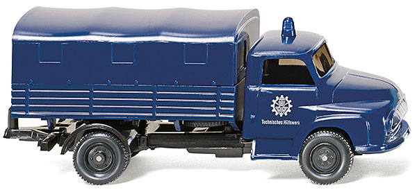 069320 - Wiking THW Ford FK 2500 Flatbed Truck