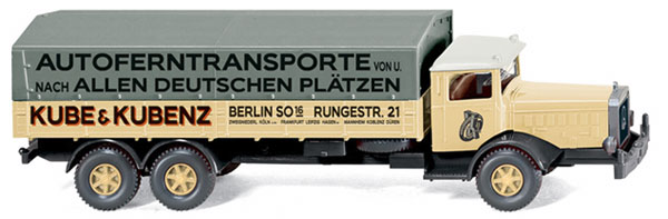 084303 - Wiking Model Mercedes Benz L 10000 Flatbed Truck