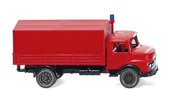 086134 - Wiking Model Fire Service Mercedes Benz Short Nose Flatbed