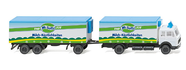 094104 - Wiking Model Mr Softy Mercedes Benz Refrigerated Box Truck