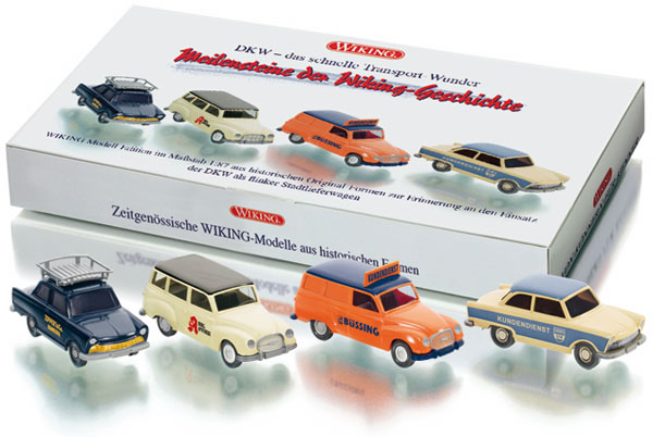 099076 - Wiking DKW Cars 4 Piece Set