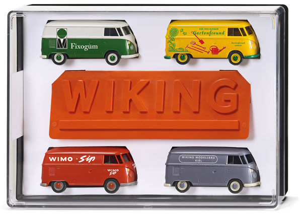 217001 - Wiking Model Volkswagen T1 Bus 4 Piece Gift Box