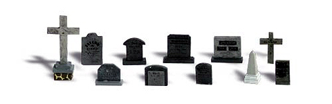 A1856 - Woodland Scenics Scenic Accents Tombstones HO Scale ABS