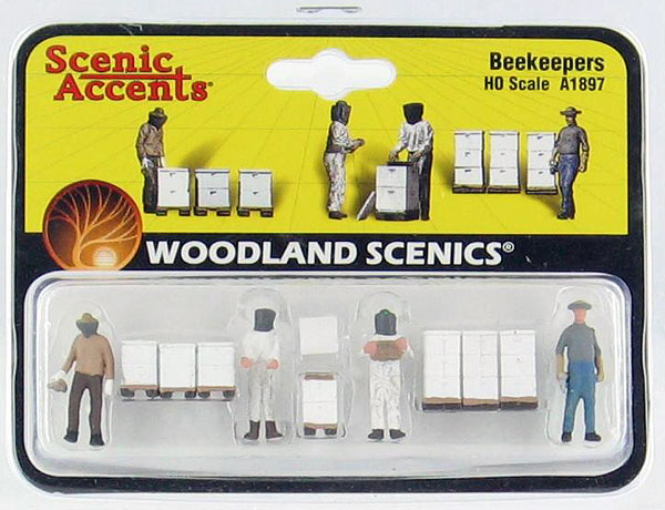 A1897 - Woodland Scenics Scenic Accents Beekeepers HO Scale ABS