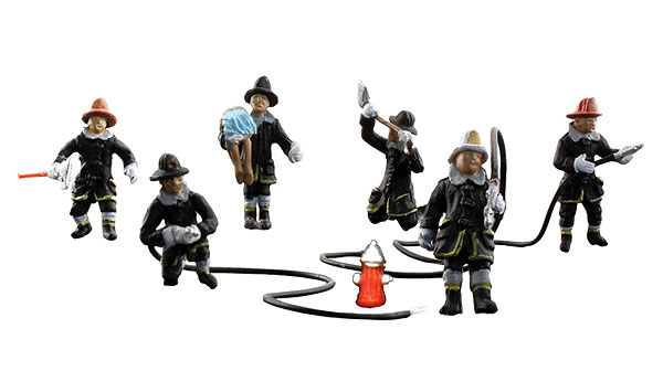 A1961 - Woodland Scenics Rescue Firefighters HO Scale Scenic Accents