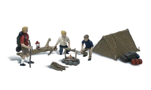 A2199 - Woodland Scenics Campers 8 Piece Set N Scale