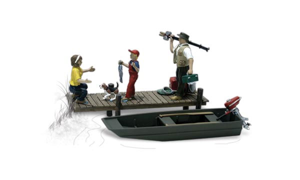 A2203 - Woodland Scenics Family Fishing 5 Piece Set N