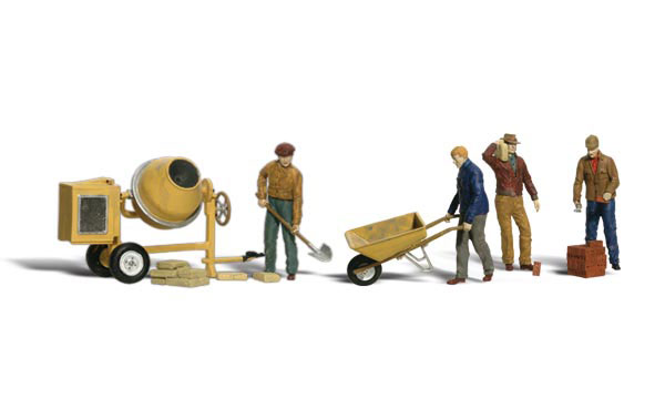 A2753 - Woodland Scenics Scenic Accents Masonry Workers O Scale