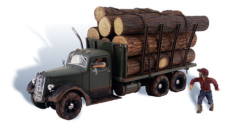 AS5553 - Woodland Scenics AutoScenes Tim Burr Logging HO Scale