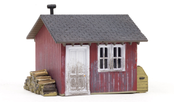 BR5057 - Woodland Scenics Work Shed HO Scale Built and