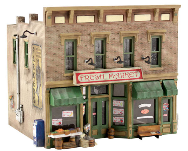 PF5200 - Woodland Scenics Fresh Market Building Kit Model