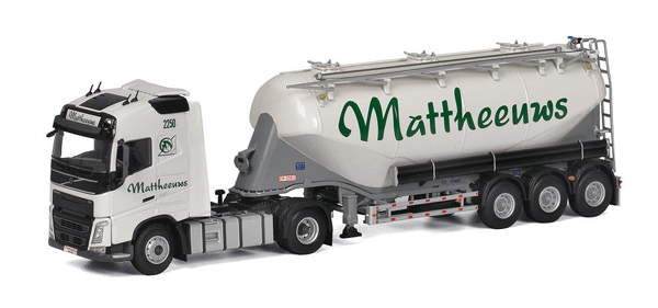01-1909 - WSI Model Mattheeuws Transport Volvo FH4 Globetrotter Tractor