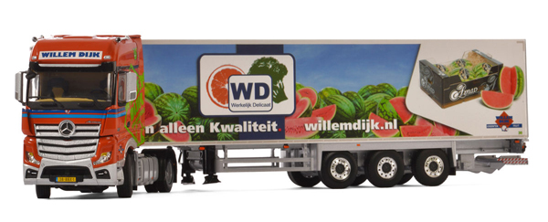 01-2090 - WSI Model Willem van Dijk AGF Mercedee Benz