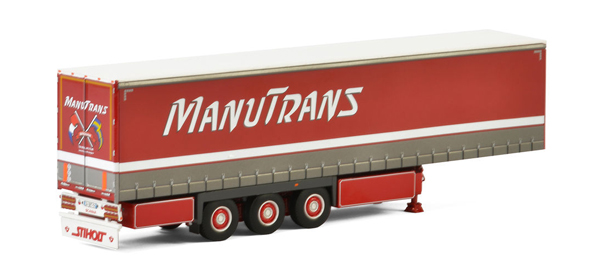 01-2143 - WSI Model Manutrans 3 Axle Curtainside Trailer