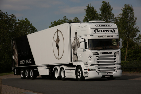 01-2355 - WSI Model Vowa Transporte Scania Streamline Topline Tractor
