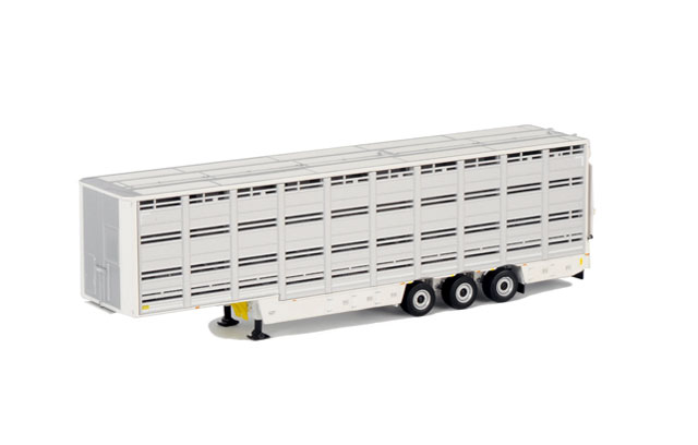 03-1123 - WSI Model Livestock 3 Axle Trailer White Line