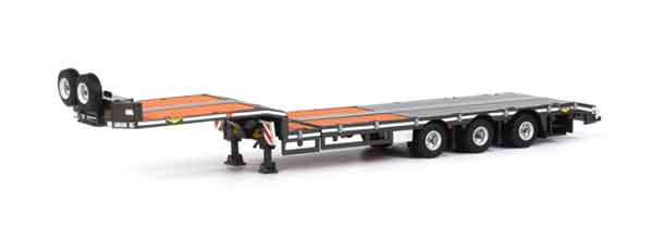 04-1139 - WSI Model Broshuis 3 Axle Lowboy Semi Trailer Trailer